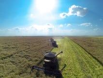 Combine harvesters Royalty Free Stock Photo