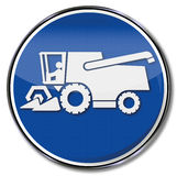 Combine harvesters and forage harvester Stock Photos
