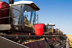 Combine harvesters Royalty Free Stock Photography