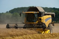 Combine harvesting Stock Photos