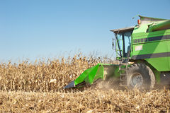 Combine harvesting Royalty Free Stock Photos