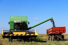 Combine harvesting Stock Photo
