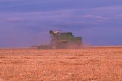 Combine harvesting in Black Mesa Royalty Free Stock Image