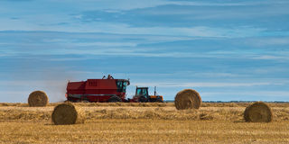 Combine harvesting Royalty Free Stock Photography