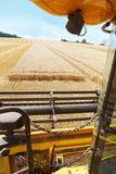 Combine harvesting Stock Photography