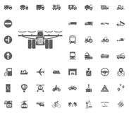 Combine icon. Transport and Logistics set icons. Transportation set icons.  Stock Photography