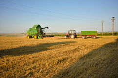 Combine prepare to unload the crop Royalty Free Stock Photos