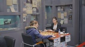 Combine Shuvalova contra Bodnaruk em Super-finais da xadrez do russo filme