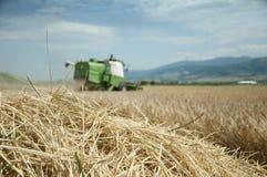combine - skördad traktor arkivfoto