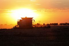 Combine in Sunset Royalty Free Stock Photos