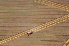 Combine working in the fields Royalty Free Stock Photography