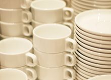 Combined Coffee cups Stock Photo