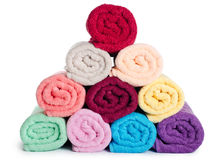 The combined  color towels Royalty Free Stock Image