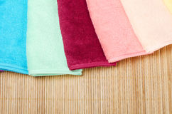 The combined  color towels Stock Photography