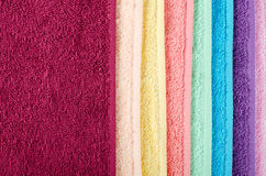 The combined  color towels Stock Photos