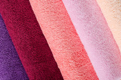 The combined colour towels Royalty Free Stock Image