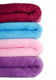 The combined colour towels Stock Images