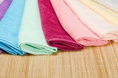 The combined colour towels Stock Photography