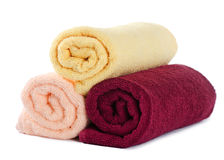 The combined colour towels Royalty Free Stock Photos