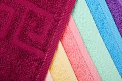 The combined colour towels Stock Photos
