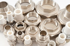 Combined fittings Stock Photos
