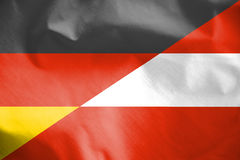 Combined Flag of Austria and Germany. Stock Photography