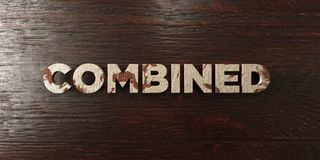 Combined - grungy wooden headline on Maple  - 3D rendered royalty free stock image Royalty Free Stock Photos