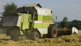 Combined harvester agriculture Stock Images