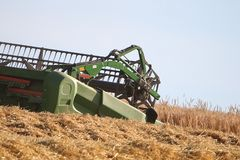 Combined harvester Stock Image