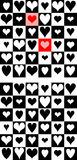 Combined heart chess pattern Royalty Free Stock Image
