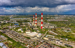 Combined heat and power factory. Tyumen. Russia Stock Images