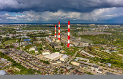 Combined heat and power factory. Tyumen. Russia Stock Photography