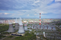 Combined heat and power factory. Tyumen. Russia Royalty Free Stock Image