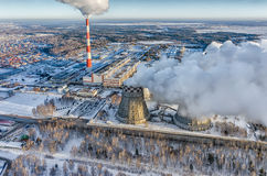 Combined heat and power factory. Tyumen. Russia Royalty Free Stock Photos