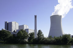 Combined heat and power station Stock Images