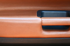 Combined leather trim. In the car Stock Image