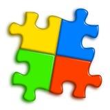Combined multi-color puzzle stock illustration