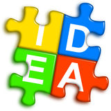 Combined multi-color puzzle - idea concept Stock Photos