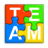 Combined multi-color puzzle - team concept 2 Royalty Free Stock Images