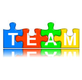 Combined multi-color puzzle - team concept Royalty Free Stock Photos