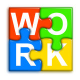 Combined multi-color puzzle - work concept 2 Royalty Free Stock Image