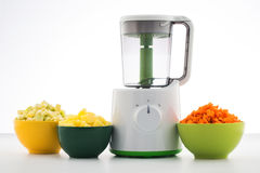 Combined Steamer & Blender. With vegetables Royalty Free Stock Images