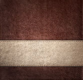 Combined stitched leather background Royalty Free Stock Photo