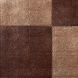 Combined stitched leather background Royalty Free Stock Image