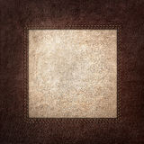 Combined stitched leather background Stock Photo