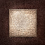 Combined stitched leather background Stock Image