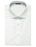 The combined white shirt & cuff on the white Stock Photos