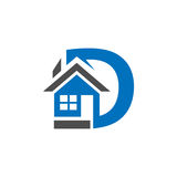 Combines house and the letter D,  abstract houses. vector illustrator Royalty Free Stock Photos