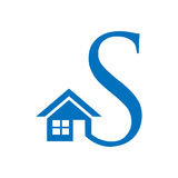 Combines house and the letter S,  abstract houses. illustration in vector format Stock Image