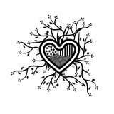 Combines tree and Heart icon,  abstract heart. vector illustrator Stock Photos
